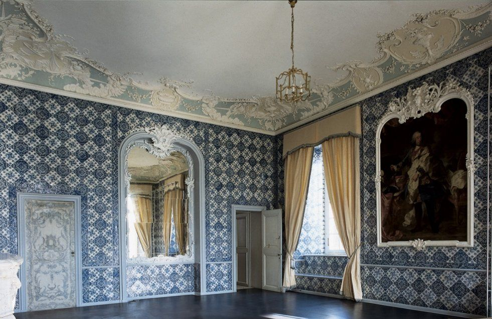 das badekabinett in schloss augustusburg monumente online. Black Bedroom Furniture Sets. Home Design Ideas