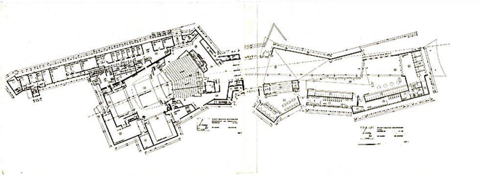 Scharouns Grundriss Fur Den Wolfsburger Theaterbau Vom 13 Mai 1969